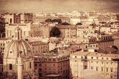 Cityscape av Rome Royaltyfri Fotografi