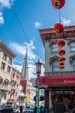 Cityscape av San Francisco från chinatonw royaltyfri fotografi