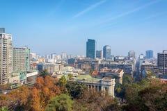 Cityscape av Santiago, Chile royaltyfri bild