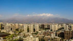 Cityscape av Santiago, Chile Arkivbilder