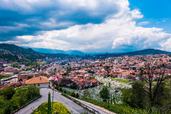 Cityscape av Sarajevo, Bosnien och Hercegovina Royaltyfria Foton