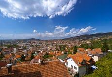 Cityscape av Sarajevo - Bosnien och Hercegovina Arkivbild