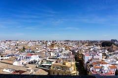 Cityscape av Seville, Spanien royaltyfri fotografi
