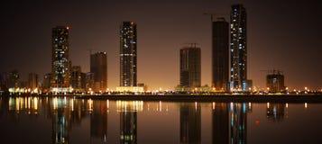 Cityscape av Sharjah Arkivfoton
