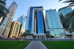 Cityscape av Sharjah, Förenade Arabemiraten Fotografering för Bildbyråer