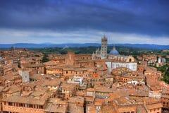 Cityscape av Siena (toscana - italy) Royaltyfri Foto