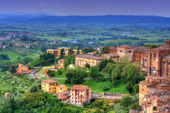 Cityscape av Siena (toscana - italy) Royaltyfria Bilder