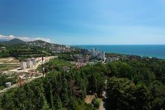 Cityscape av Sochi Royaltyfri Foto