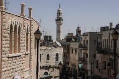 Cityscape av staden av Betlehem arkivbilder