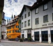 Cityscape av staden av Fussen Schwarzwald Tyskland fotografering för bildbyråer