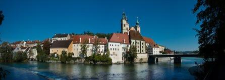 Cityscape av Steyr royaltyfri foto