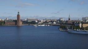 Cityscape av Stockholm, Sverige stock video