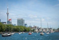 Cityscape av Toronto i Kanada Fotografering för Bildbyråer