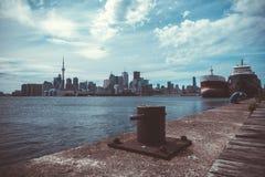 Cityscape av Toronto i Kanada Arkivfoto