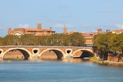 Cityscape av Toulouse Arkivfoto
