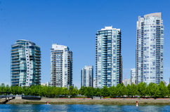 "Cityscape av Vancouver, British Columbia, Kanada †""False Creek Royaltyfri Bild"