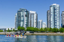 "Cityscape av Vancouver, British Columbia, Kanada †""False Creek Arkivfoton"