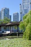 Cityscape av Vancouver, British Columbia, Kanada —kineskvarter Arkivfoto