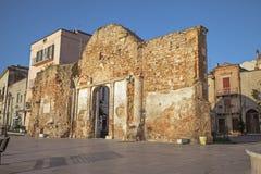 Cityscape av Vasto, Abruzzo, Italien Arkivfoton