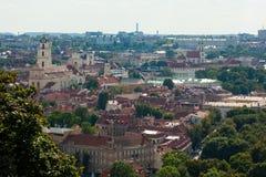 Cityscape av Vilnius, Litauen Arkivbild