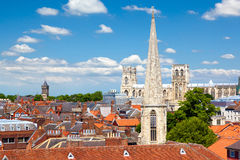 Cityscape av York, North Yorkshire, England Arkivfoton