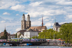 Cityscape av Zurich Arkivbild