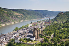 Cityscape of Bacharach in the Rhine valley royalty free stock image