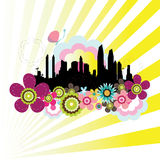 Cityscape background. Abstract colorful cityscape illustration background Royalty Free Stock Photos