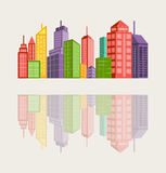 Cityscape background with buildings Royalty Free Stock Image