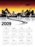 Cityscape background, calendar Royalty Free Stock Photos
