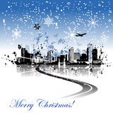 Cityscape background christmas Royalty Free Stock Photos