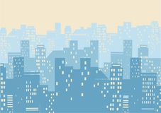Cityscape background illustration.Vector illustration of modern Royalty Free Stock Photos