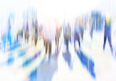 Cityscape background and people Royalty Free Stock Photos