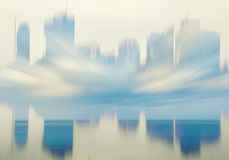 Cityscape background and people Stock Photo
