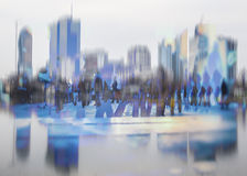 Cityscape background and people Stock Images
