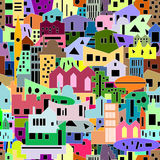 Cityscape background, seamless pattern for your design Royalty Free Stock Photography