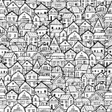 Cityscape background, seamless pattern for your design Stock Image