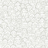 Cityscape background, seamless pattern for your design Royalty Free Stock Photo