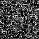 Cityscape background, seamless pattern for your design Royalty Free Stock Photos