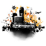 Cityscape background, urban. Art, vector illustration Royalty Free Stock Photo
