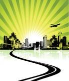 Cityscape background, urban. Art, vector illustration Royalty Free Stock Photos