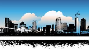 Cityscape background, urban. Art, vector illustration Royalty Free Stock Image