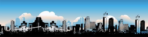 Cityscape background, urban. Art, vector illustration Stock Photo