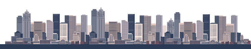 Cityscape background, urban art. Vector illustration Royalty Free Stock Photo