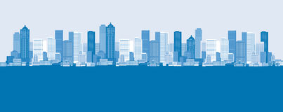 Cityscape background, urban art. Vector illustration Stock Images