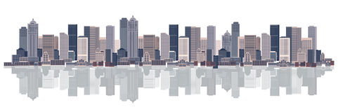 Cityscape background, urban art. Vector illustration Stock Image