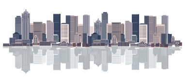 Cityscape background, urban art. Vector illustration Stock Photography