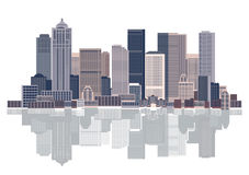 Cityscape background, urban art. Vector illustration Royalty Free Stock Photography