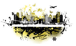 Cityscape background, urban art Stock Photo