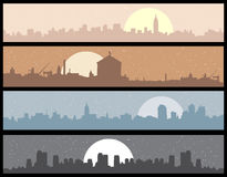 Cityscape background, urban art. Vector illustration Royalty Free Stock Images